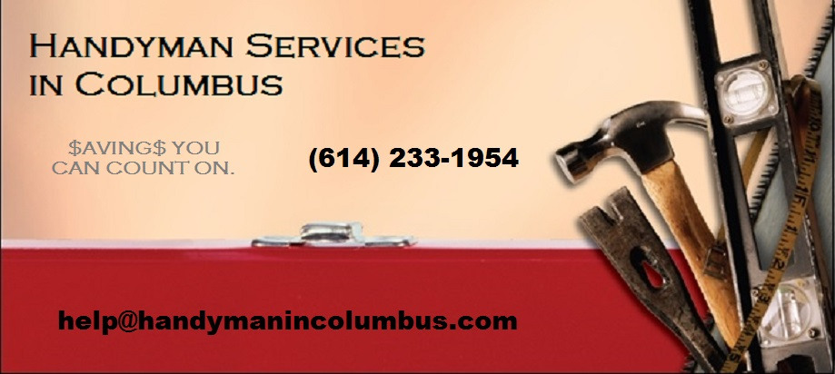 Columbus handyman service, plumbing,                              electrical, cabinets, countertops, drywall                              repair, lawn mowing, trimming, edging,                              fence installations and repairs, you name                              it, we can do it.